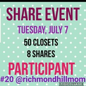 SHARE EVENT HOSTED by @emilyonposhmark Tues 7/7